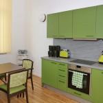 Etagenküche grün
